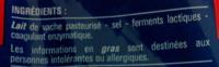 Emmental Français Râpé (29 % MG) - Ingrédients - fr