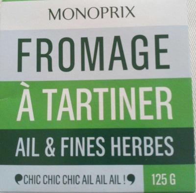Fromage à Tartiner, Ail & Fines Herbes (24 % MG) - Produit - fr