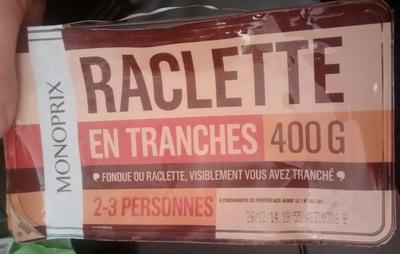 Raclette en tranches - Produit - fr