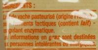 Emmental français (29 % MG) - Ingrédients - fr
