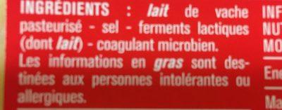 Emmental en tranches - Ingrédients - fr