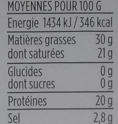 Gourmet - Bleu d'Auvergne (30% MG) - Nutrition facts - fr