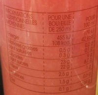 Orange Pamplemousse pur jus fraîchement pressé à la Framboise - Voedingswaarden