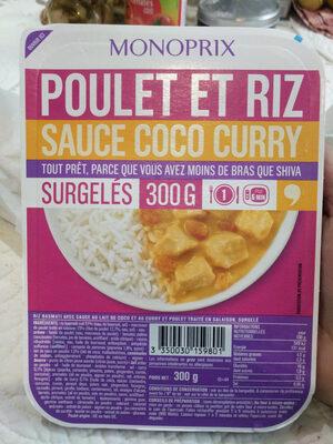 Poulet et riz sauce coco curry - Produit - fr