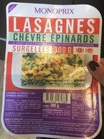 Lasagnes chèvre épinards - Produkt - fr