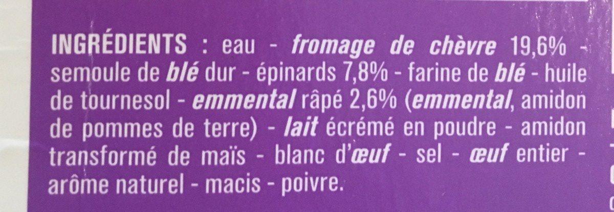 Lasagnes chèvre épinards - Inhaltsstoffe - fr