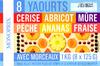 8 Yaourts aux fruits avec morceaux - Product