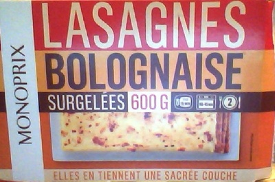 Lasagnes Bolognaise - Produit - fr