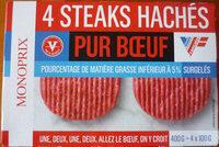 4 steaks hachés pur boeuf - Prodotto - fr
