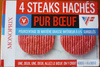 4 steaks hachés pur boeuf - Product