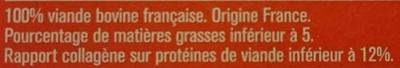 4 steaks hachés pur boeuf - Ingredienti - fr