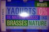 Yaourts 0% brassés nature - Produit