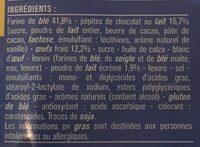 10 pains au lait aux pépites de chocolat au lait - Ingredients - fr