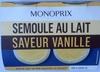 Semoule au lait saveur vanille - Produit