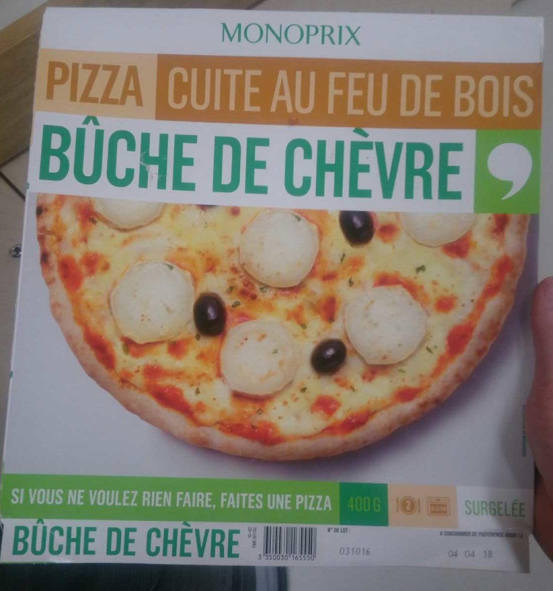 pizza cuite au feu de bois b che de ch vre monoprix 400 g. Black Bedroom Furniture Sets. Home Design Ideas