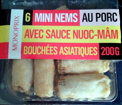 6 Mini Nems au Porc avec Sauce Nuoc-Mâm - Product