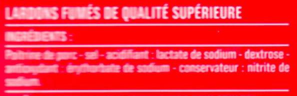 Allumettes de Lardons Fumées - Ingrédients - fr