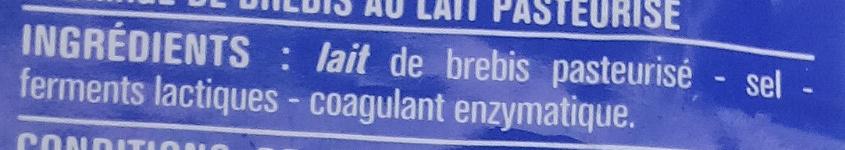 Fromage 100% brebis - Ingredients