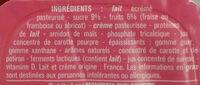 Petits suisses sucrés aux fruits - Ingredients