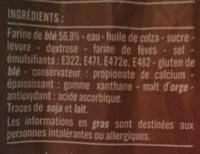 Pain de Mie - Le Blanc - Ingredients - fr