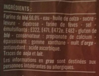 Pain de Mie - Le Blanc - Ingrediënten