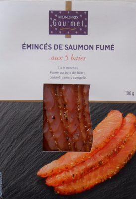 Emincés de saumon Atlantique, fumés aux 5 baies - Product - fr