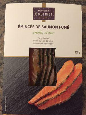 Emincés de saumon Atlantique, fumés au citron et aneth - Product - fr