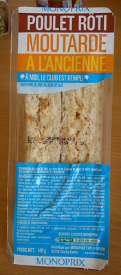 Sandwich Poulet Rôti Moutarde à l'ancienne Monoprix - Produit - fr