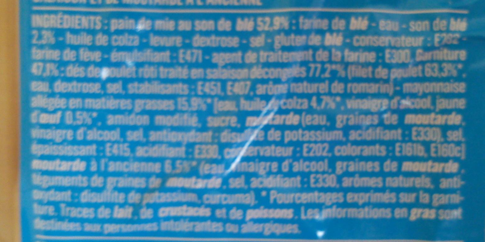 Sandwich Poulet Rôti Moutarde à l'ancienne Monoprix - Ingrédients - fr
