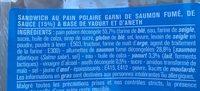 Saumon Fume aneth pain polaire - Ingrédients