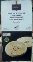 Bloc de Foie Gras de canard de cdu Sud-Ouest avec morceaux IGP - Produit - fr
