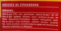 Mini knacks - Saucisses de Strasbourg - Ingrédients - fr