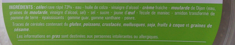 Céleri Râpé Sauce Rémoulade - Ingredients - fr