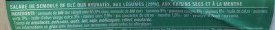 Taboulé oriental à la menthe - Ingrédients
