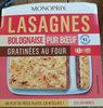 Lasagnes bolognaise pur bœuf gratinées au four - Product