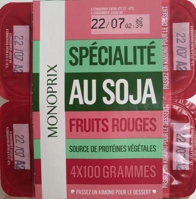 Spécialité au Soja Fruits Rouges - Produit - fr