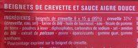8 beignets de crevette - Ingredients