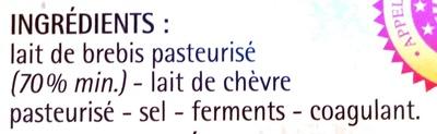 Feta AOP (24% MG) affinée en fût - 200 g - Monoprix Gourmet - Ingrediënten