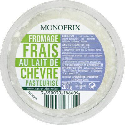 Fromage frais au lait de chèvre pasteurisé - Product - fr