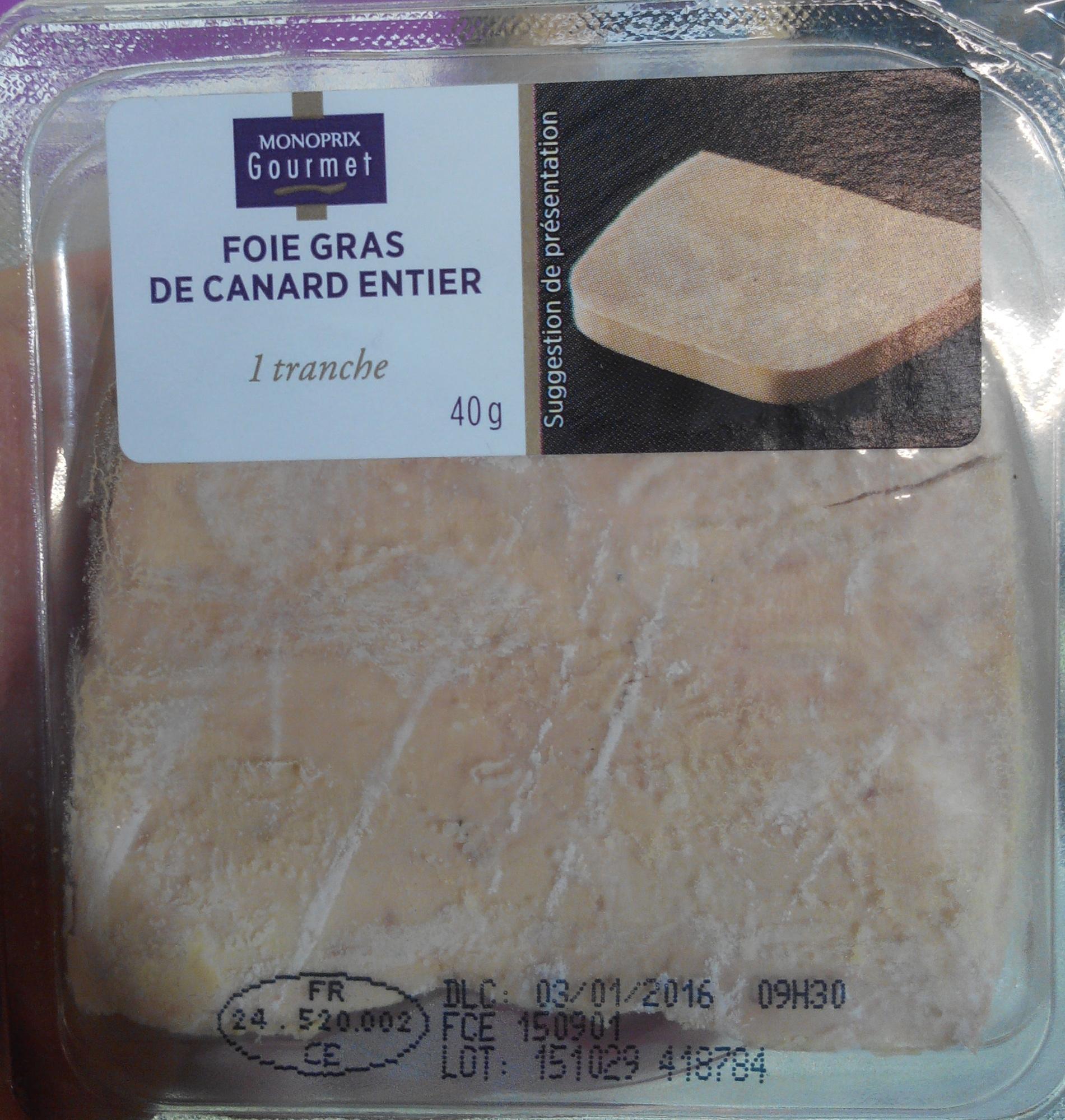 Foie gras de canard entier 1 tranche - Product - fr