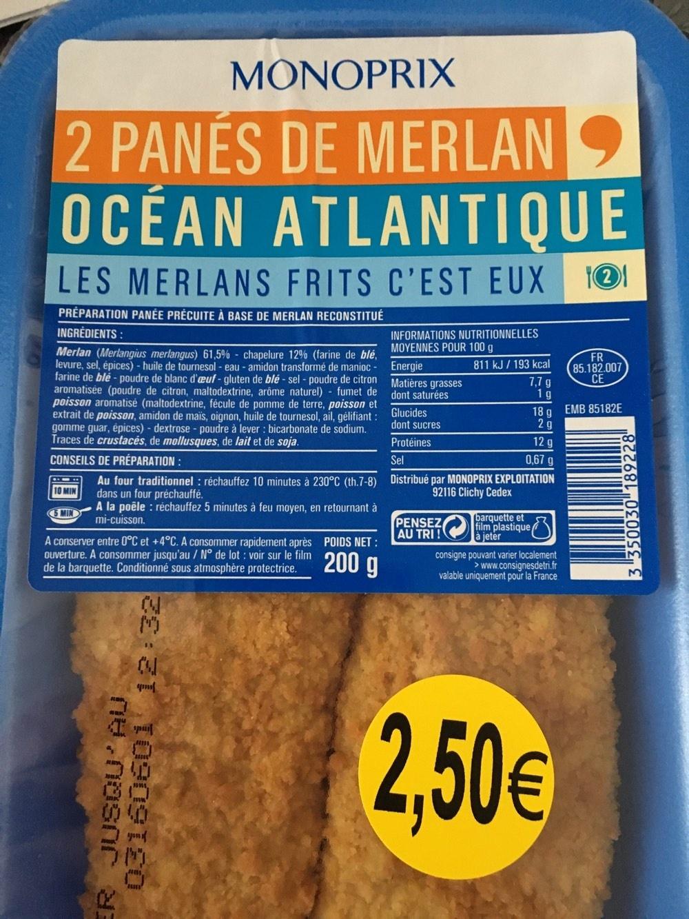 2 panés de merlan - Product - fr