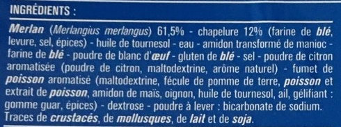 2 panés de merlan - Ingrediënten - fr