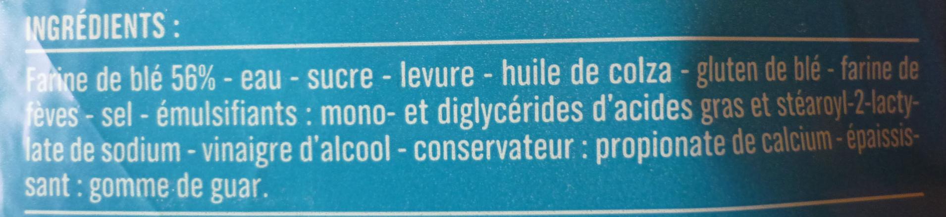 Only Mie, Pain de Mie Blanc, Sans Croûte (21 Tranches) - Ingrédients - fr
