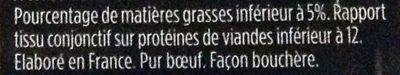 2 steaks hachés - Ingrédients - fr