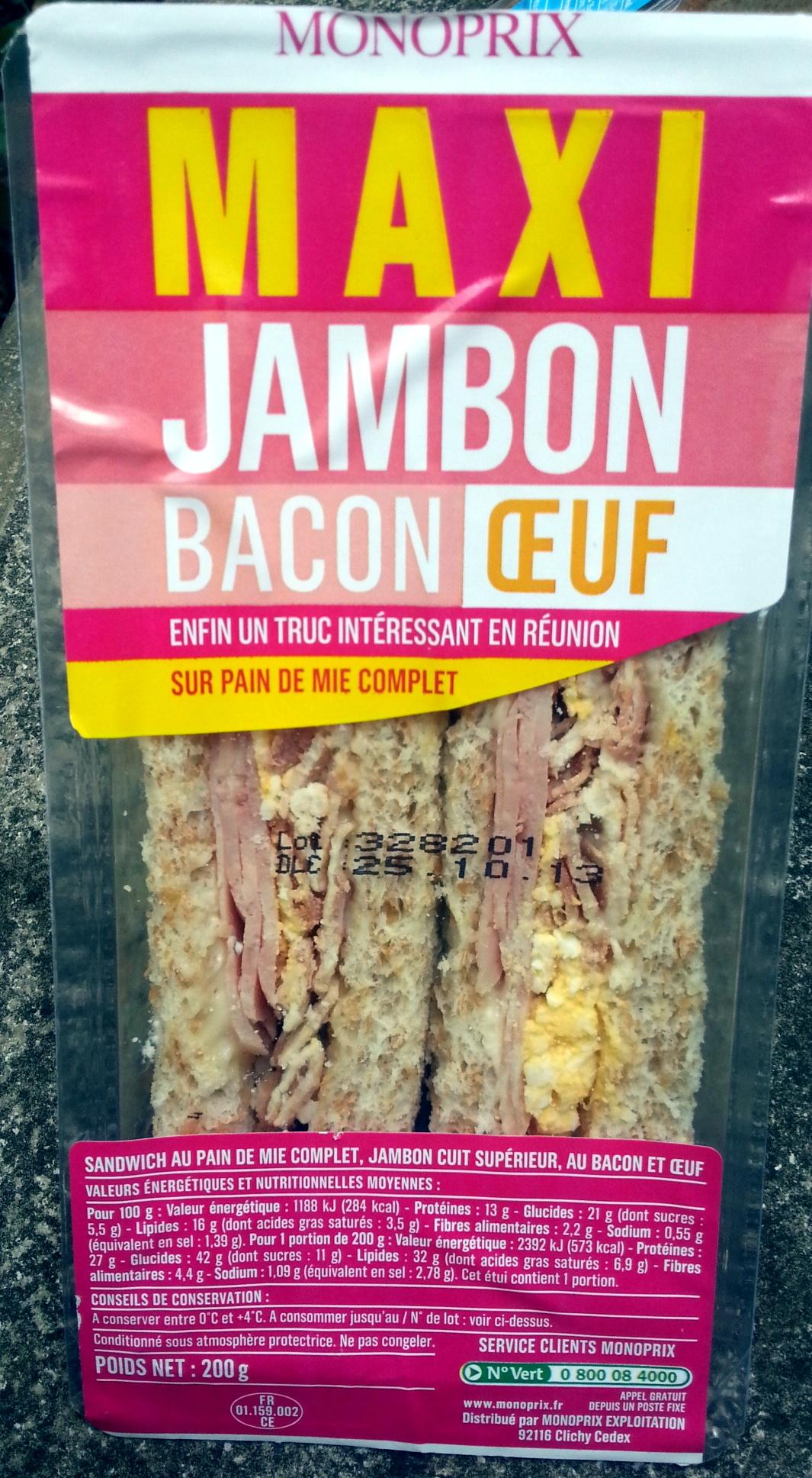 Maxi Jambon Bacon Oeuf - Produit - fr