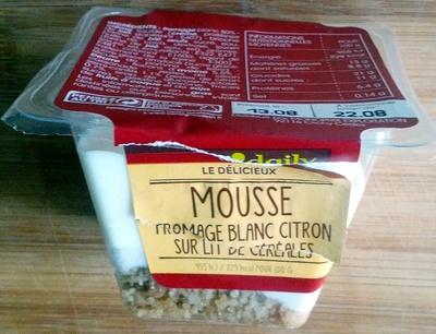 Mousse Fromage blanc Citron sur lit de Céréales - Produit - fr