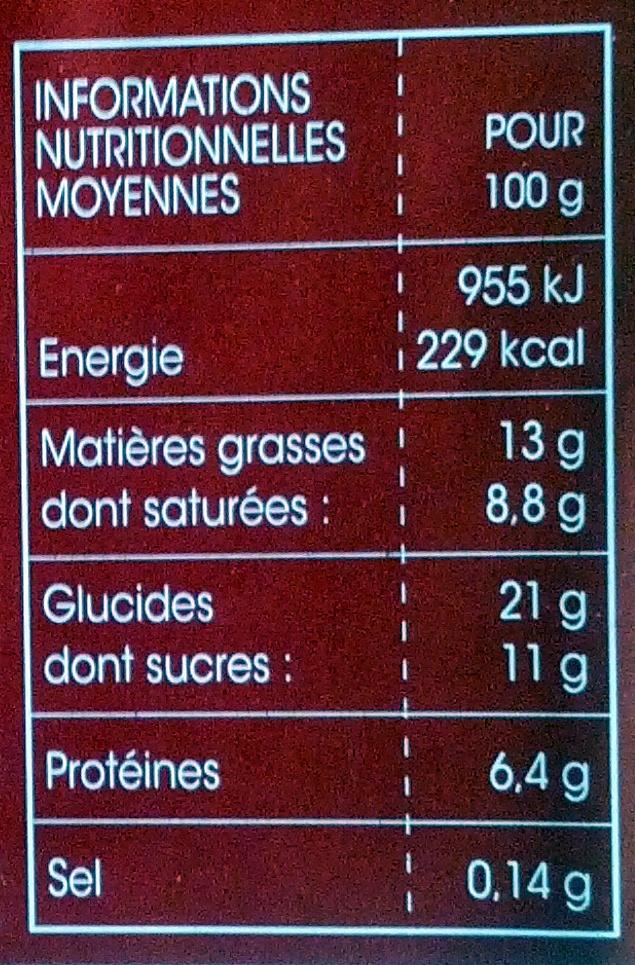 Mousse Fromage blanc Citron sur lit de Céréales - Informations nutritionnelles - fr
