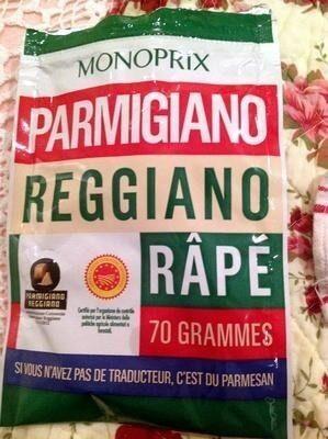 Parmigiano Reggiano AOP râpé (28% MG) - 70 g - Monoprix - Produit - fr