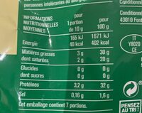 Parmigiano Reggiano AOP râpé (28% MG) - 70 g - Monoprix - Informations nutritionnelles - fr