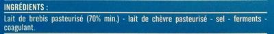 Feta AOP (24% MG) Nature en dés - 130 g - Monoprix - Ingrédients - fr